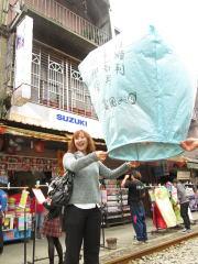 台湾おすすめ 十分 天燈上げ