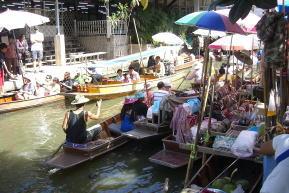 タイ現地手配 水上マーケット